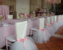 chair baby shower chair tulle tutu chair cover available for rent