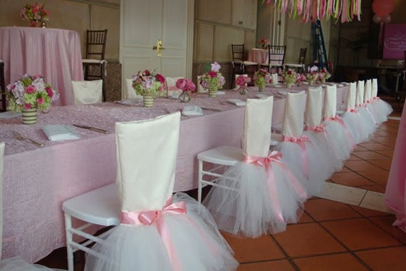Tutu chair cover ballerina chair cover ballerina by wedsource for Sillas para quinceaneras