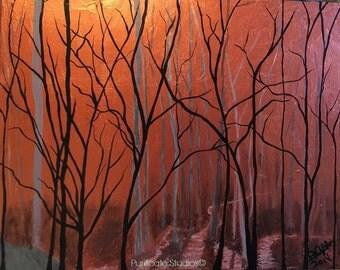Metallic Night-Original Acrylic Paintings by Danielle Purificato