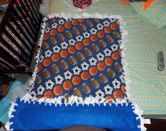 Kids Fleece Blanket with Sports Theme