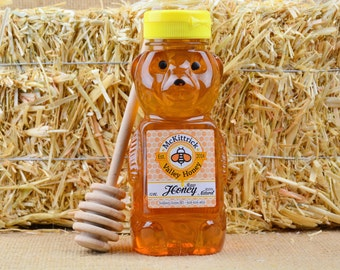 12oz 100% Natural Raw Honey Bear