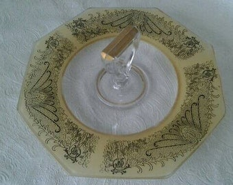 Vintage Sandwich Plate with Center Handle