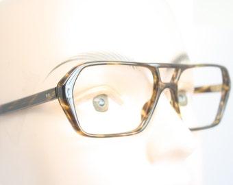 Unused Tortoise Aviator Vintage Eyeglass Frames New Old stock Vintage Eyewear 1980s Vintage Glasses Unique Deadstock Sunglasses