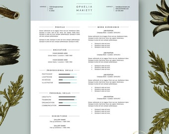 resume template modern resume template cover letter stylish resume