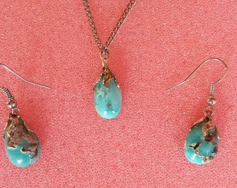 Nacklace, Earrings and Ring set
