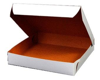 white pizza boxes 8 x 8 x 1-1/2 - set of 25