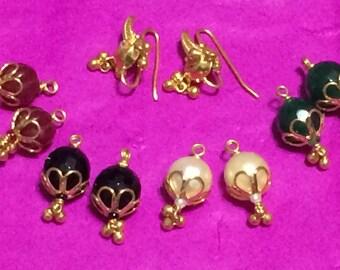 22k Solid Gold Earrings Pure gold Earrings Interchangeable Earrings Gold Studs 916 Gold