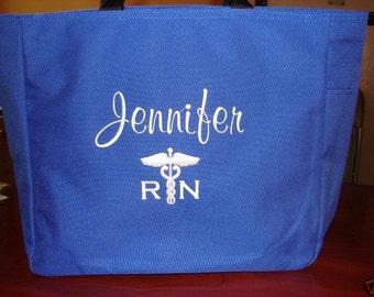 1 Tote Bags Personalize Nurse Student RN cna lpn ER Lvn Nicu Medical Room Department Hospital