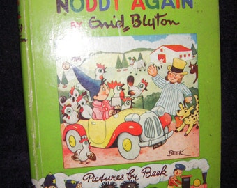 First Edition - Here Comes Noddy Again #4 by Enid Blyton, Book.