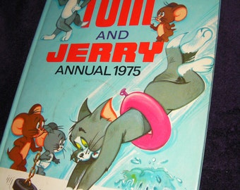 Vintage, Tom and Jerry Annual 1975. Hardback Book.