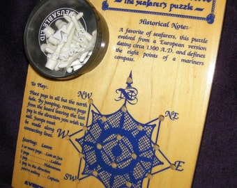 Vintage, Retro Game - Wooden, Mariner's Mate, The Seafarer's Puzzle, Game, Puzzle.