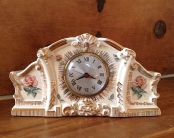 Vintage Porceline Mantle Clock