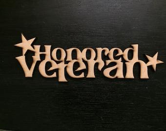 Honored Veteran Ornament --> Wall Art