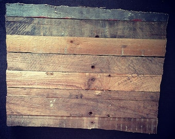 """15"""" Reclaimed Wood Lath State of Wyoming"""