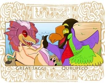 JaggiPeco - Monster Hunter Print