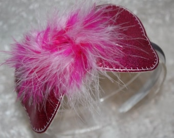 Marabou Bow Headband Slider Embroidery Machine Design for the 5x7 hoop