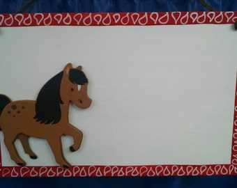 Personalized horse sign for kids outdoor indoor Christmas Gift**special sale**