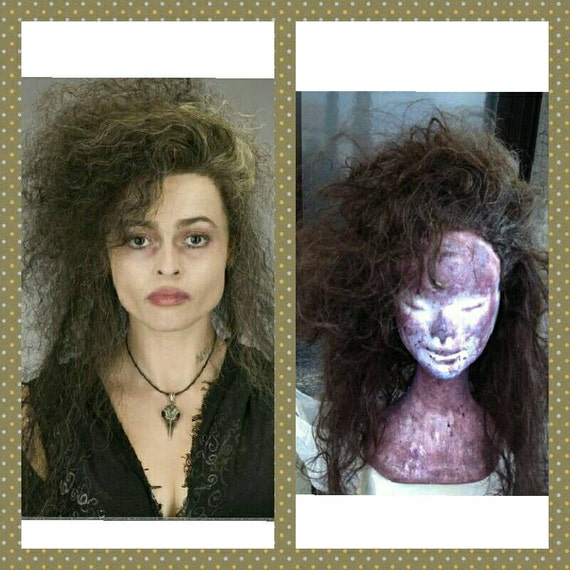 Preorder wig harry potter movie Bellatrix cosplay costume