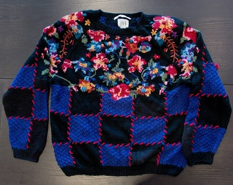Like New IVY Hand Knitted Vintage Sweater