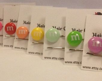 M & M Inspired bobby pin Hair Candy Accessories