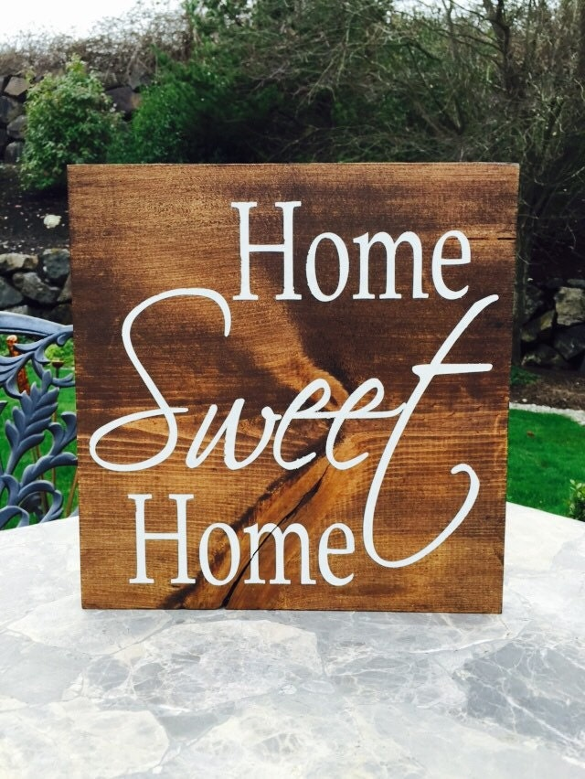 home sweet home wood sign home decor by rustictimbernw on etsy. Black Bedroom Furniture Sets. Home Design Ideas