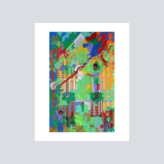 Wall Decor From Ross : Wall arttree art printwall decorplaying card artmetallic