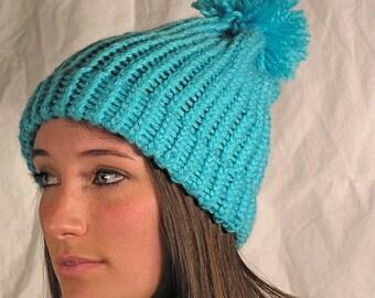 Aqua Winter hat