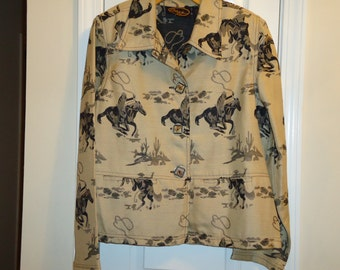 Vintage  Western Rodeo Cowboy Jacket Alex Kim by Allure, NWT, Size Large