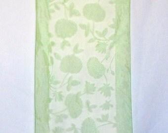 Vintage Sheer Green Scarf