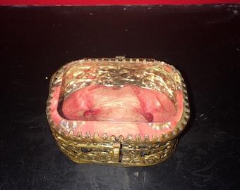 Victorian jewellery glass box