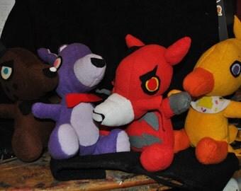 All four freddy foxy chica bonnie group plush five nights at freddy