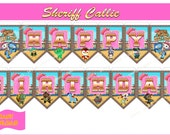 SHERIFF CALLIE  Birthday Banner, Sheriff Callie Banner, Instant Download, Printable File.