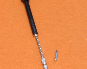 Spiral Push Drill / Archimedes / Archimedean Push Hand Drill. Free UK Postage.