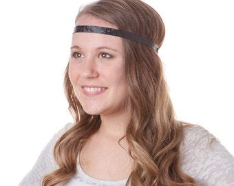 Hipsy Skinny ULTRAHOLD Geo Sport Adjustable Headbands For Women