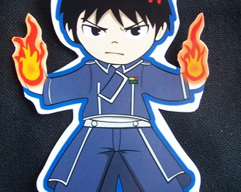 Roy Mustang Sticker: Full metal Alchemist