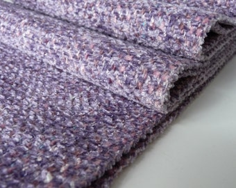 Handwoven Soft Chenille/  Pastel, Lilac Twill , Weave Scarf