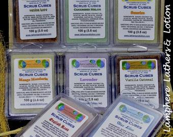 Spa, Sugar Scrub, Scrub Cubes, Bath, Body, Exfoliating, Gift Idea, Sugar Scrub Cubes, Natural