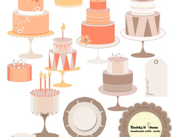 Clipart Cakes, clipart frames and tags