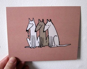 Postcard - greyhounds / / Postcard - Greyhounds