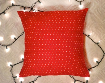 Red Dot Pillow Cover