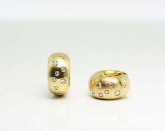 0.33ct Diamond And Gold Earrings