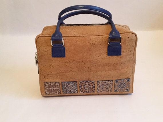 Tile Design Cork Bag