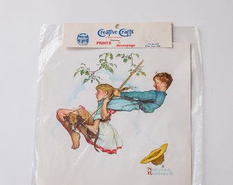 Vintage Creative Crafts Brand Prints for Decoupage, Norman Rockwell