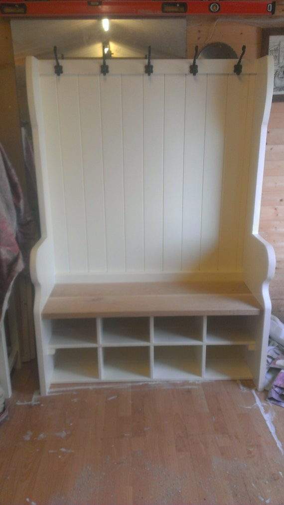 Pew Coat And Shoe Rack