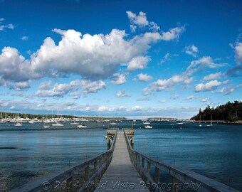 Maine Photography – The view from a pier in Southwest Harbor in Maine