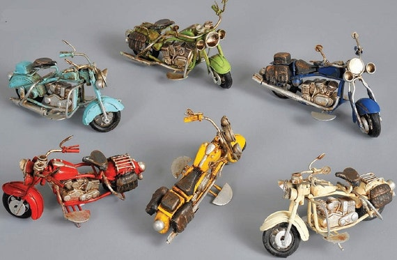 Harley Davidson Toys : Indian harley davidson style vintage motorcycle tin toy