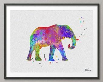 Elefante elefante imprimir acuarela elefante arte illustrationElephant cartel pared decoración colgando de la pared arte hogar decoración elefante cartel regalo A024