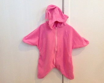Fleece Star Baby Bunting - fits up to 6 months or 18 lbs