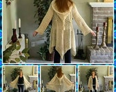 Crochet Patterns for Glenda's Hooded Gypsy Cardigan: fits women's sizes 5/6-11/12 and sizes 16-2X INTERMEDIATE LEVEL CROCHET