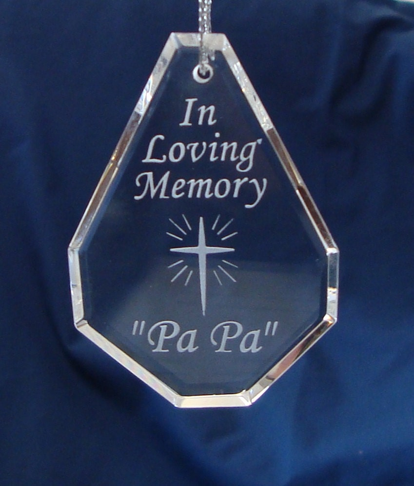 In Loving Memory Cross Teardrop by Engravedinourhearts on Etsy